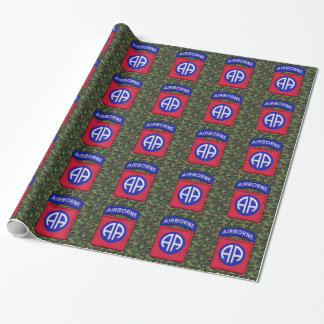 82nd airborne veterans vets patch wrapping paper