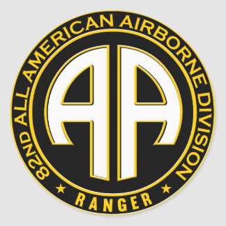 82nd All American Airborne Ranger Casual Patch Round Sticker