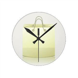 82Paper Shopping Bag_rasterized Round Clock
