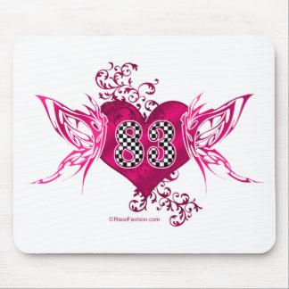 83 racing number butterflies mousepads