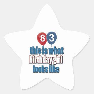 83 years birthday designs sticker