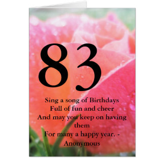 83rd Birthday Card