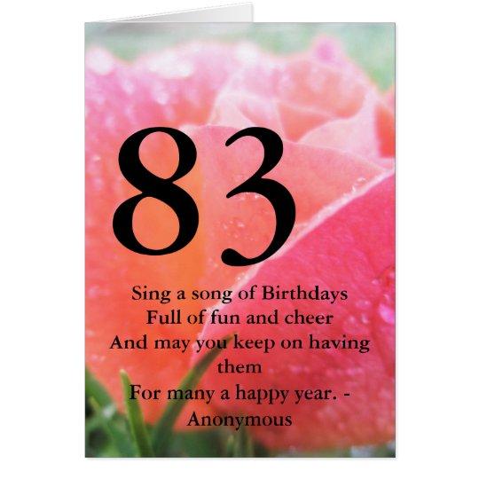 83rd Birthday Card