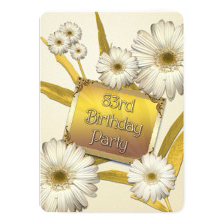 83rd Birthday Party Invitation with daisies