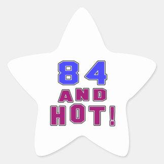84 birthday designs star sticker