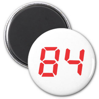 84 eighty-four red alarm clock digital number magnets