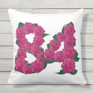84th Anniversary Outdoor Throw Pillow