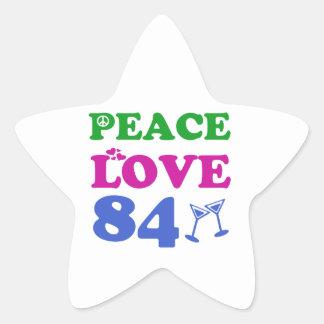 84th birthday designs stickers