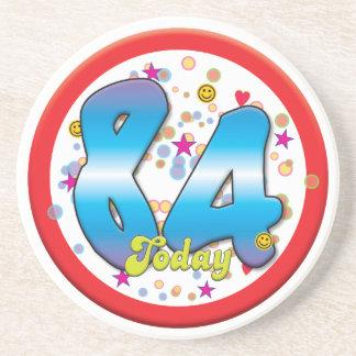 84th Birthday Today Beverage Coasters