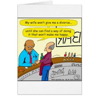 853 divorce makes me happy cartoon card
