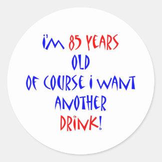 85 another drink round sticker