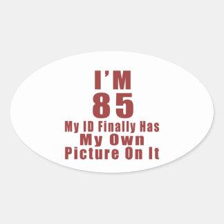 85 Birthday Designs Oval Sticker