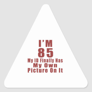 85 Birthday Designs Triangle Sticker