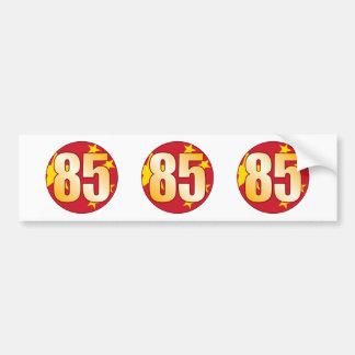 85 CHINA Gold Bumper Sticker