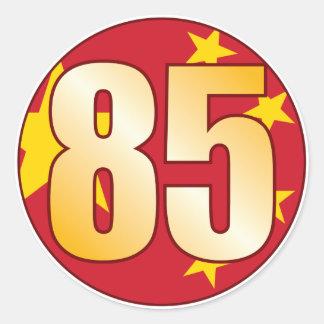85 CHINA Gold Round Sticker
