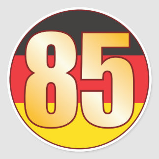 85 GERMANY Gold Round Sticker