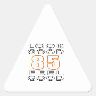 85 Look Good Feel Good Triangle Stickers