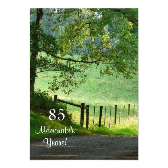 85 Memorable Years/Birthday Celebration-Male Card