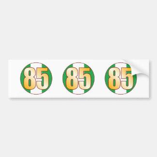 85 NIGERIA Gold Bumper Sticker