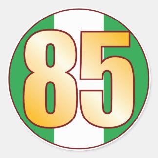 85 NIGERIA Gold Round Sticker