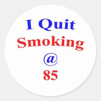 85  Quit Smoking Round Sticker