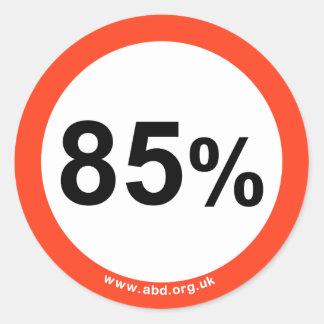 85% sticker