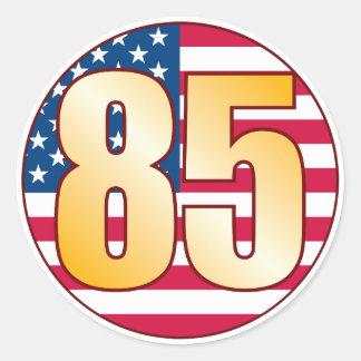 85 USA Gold Round Sticker