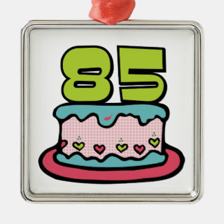 85 Year Old Birthday Cake Metal Ornament