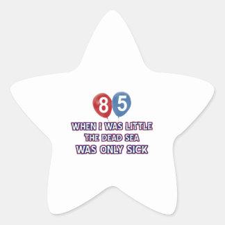 85 year old dead sea birthday designs star sticker