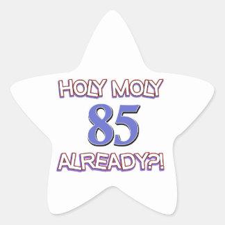 85 year old designs star sticker