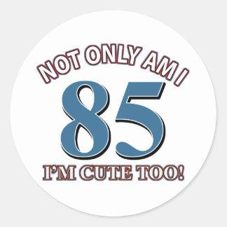 85 years design round sticker