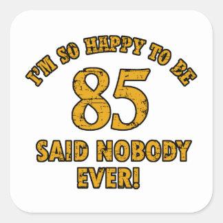 85 years design square sticker