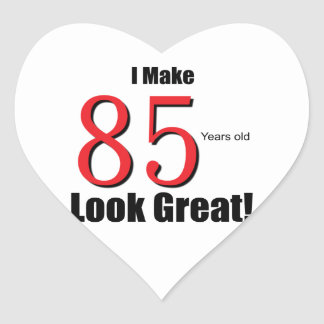 85 years Old Heart Sticker