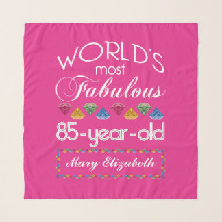 85h Birthday Most Fabulous Colorful Gems Pink Scarf