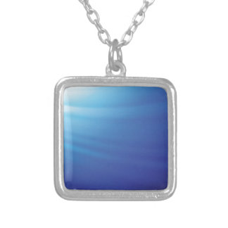 85Marine Background _rasterized Silver Plated Necklace