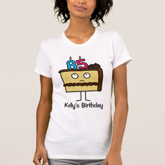 85th Birthday Cake with Candles T-Shirt