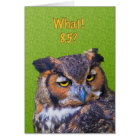 85th Birthday Card with Great Horned Owl