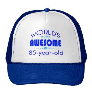 85th Birthday Celebration World's Best in Blue Mesh Hats