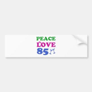 85th birthday designs bumper sticker