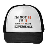 85th birthday designs cap