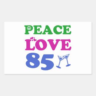 85th birthday designs rectangle sticker
