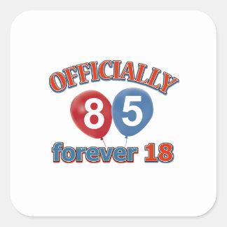 85th birthday designs square sticker