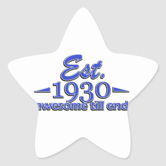 85th birthday designs star sticker