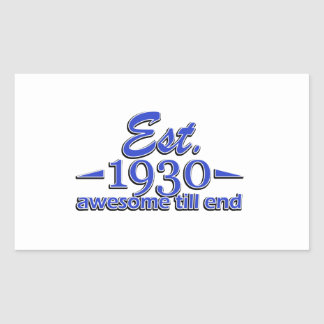 85th birthday designs rectangular sticker