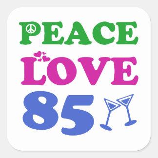 85th birthday designs square stickers