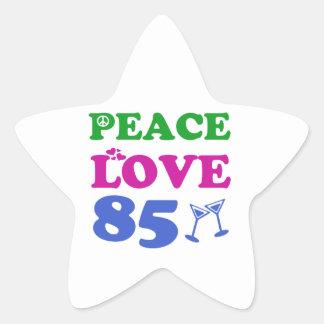 85th birthday designs stickers