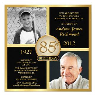 85th Birthday Invitations Then Now Photos