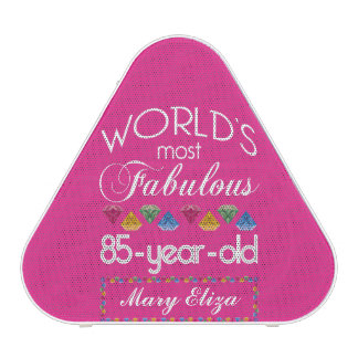 85th Birthday Most Fabulous Colorful Gems Pink Speaker