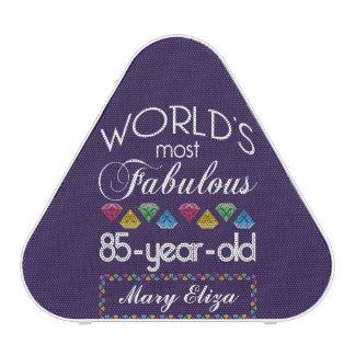 85th Birthday Most Fabulous Colorful Gems Purple Bluetooth Speaker