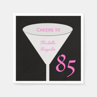 """85th Birthday Party """"Cheers To"""" for Women Paper Disposable Napkins"""